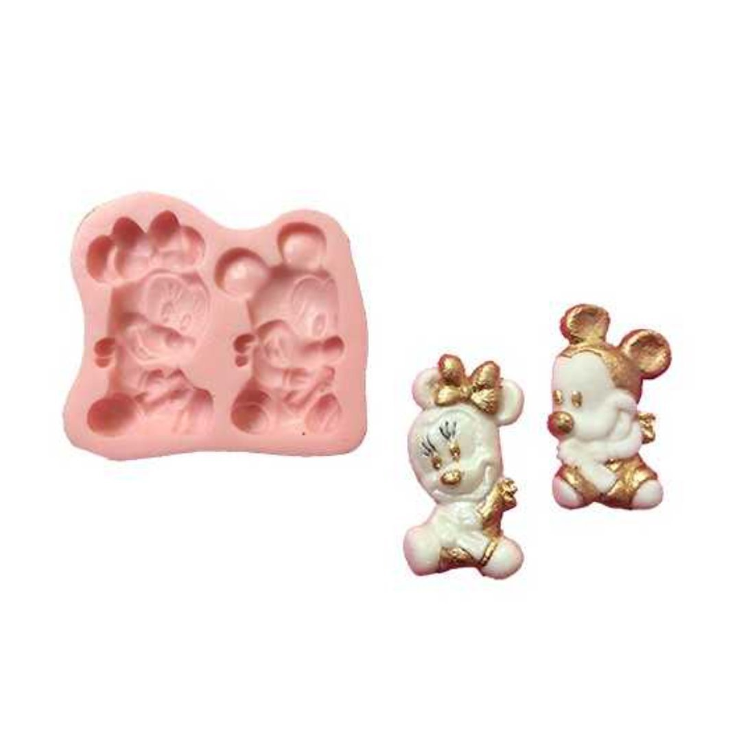 Baby Minnie and Mickey silicone mold