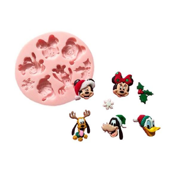 Christmas Disney Mickey Friends Silicone Mold