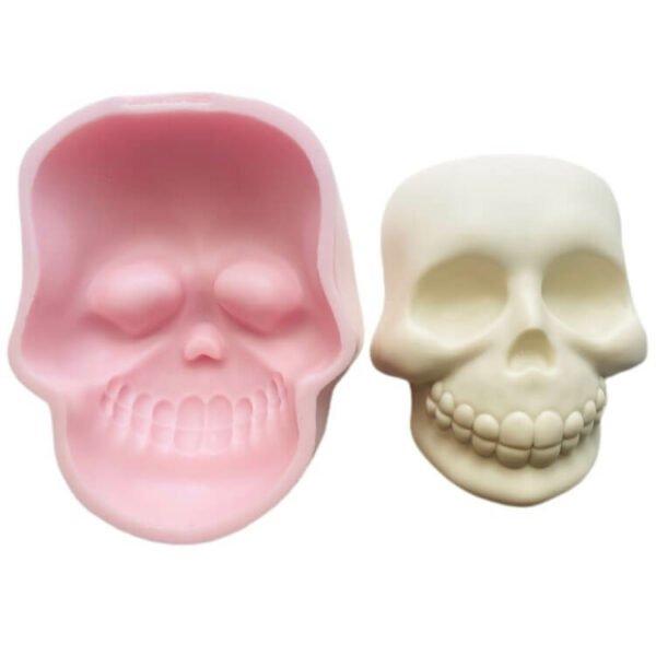Halloween Skull Big Face silicone mold