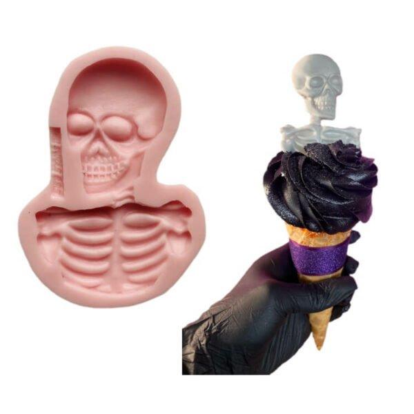Halloween Skull II silicone mold